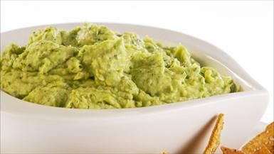 """Avocado Hummus with Crispy Pita Chips"" Recipe: Giada De Laurentiis"