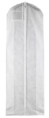 """nice White Breathable Wedding Dress Gown Garment Bag - Extra Long with 10"""" Gusset (B7210W) -3.5 mil Breathable Fabric Measures 72"""" long x 24"""" wide and includes a 10"""" side gusset Acid Free and PH Neutral -http://weddingdressesusa.com/product/white-breathable-wedding-dress-gown-garment-bag-extra-long-with-10-gusset-b7210w/"""