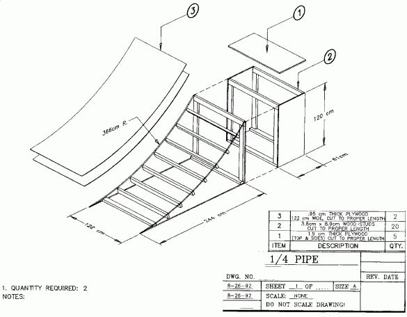 Skateboard Ramp Blueprints
