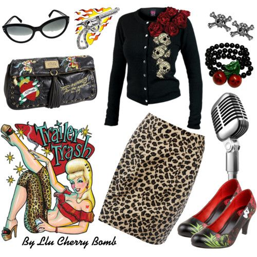 Really like the Rockabilly look.  Just bought a leopard skirt, now I just need the sweater and shoes!