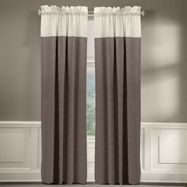 Grand Luxe 100 Percent Linen Monterey Rod Pocket Curtain