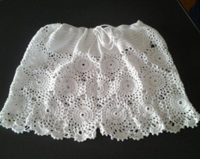 Hecho a mano ganchillo cortos picantes / 100% algodón / hecho por encargo