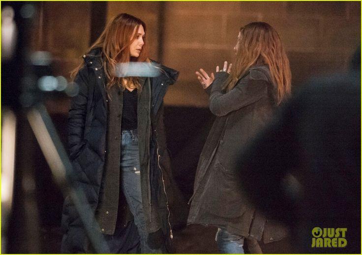 Avengers: Infinity War, Elizabeth Olsen nelle foto dal set di Edimburgo