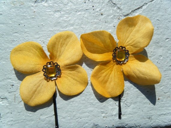Hair Accessories Mustard Yellow Flower Pins By Raleighbeauty 6 50 Photography Ideas Pinterest Flowers In And Makeup