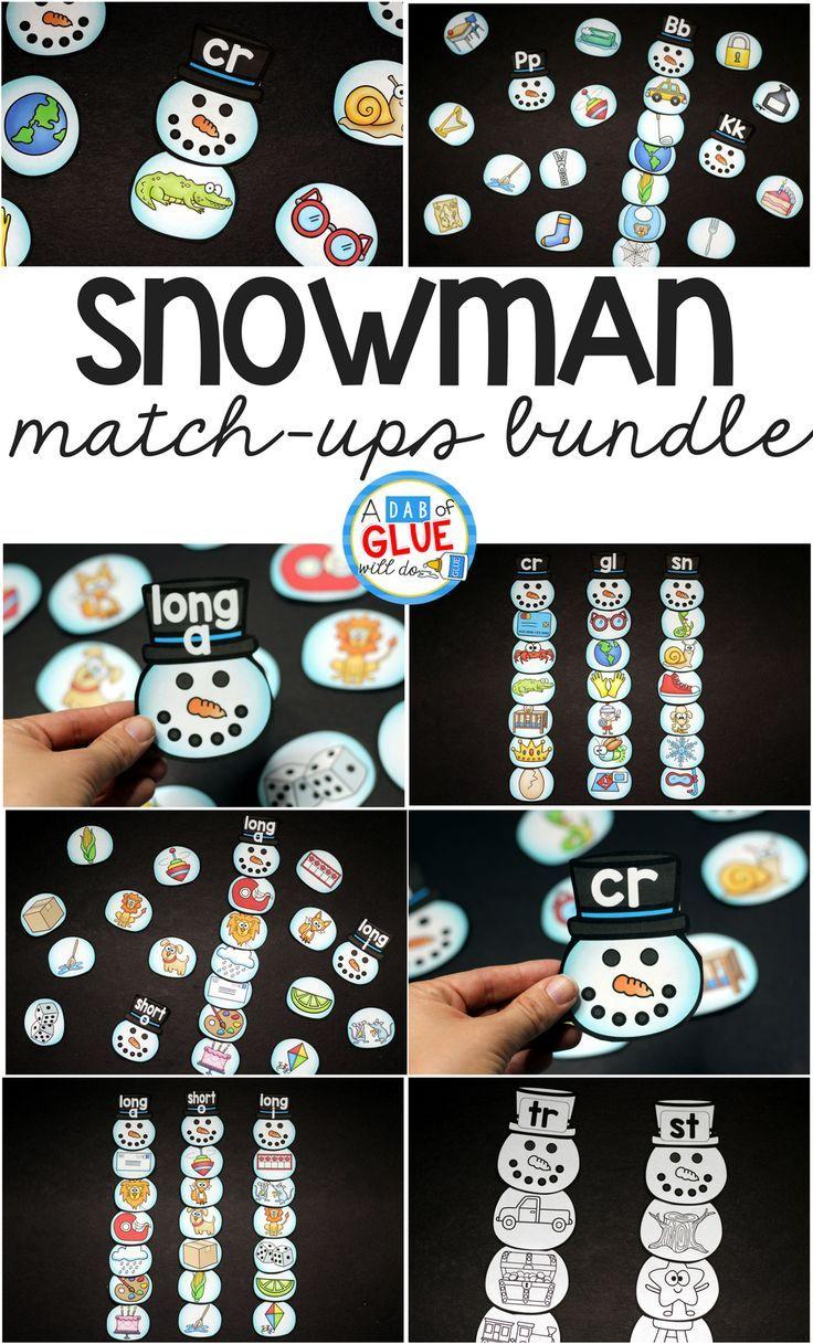 Kindergarten Math on Snowman Patterning Worksheets For Preschool