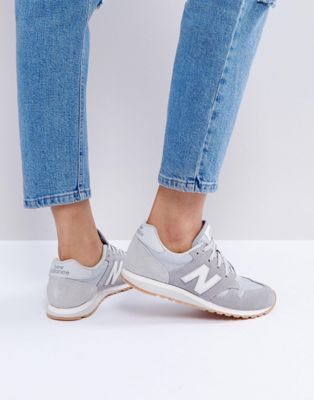 New Balance 520 Suede Trainers In Grey