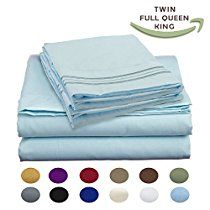 Luxury Egyptian Comfort Wrinkle Free 1800 Thread Count 6 Piece Queen Size Sheet Set, SKY Color, 2 Bonus Pillowcases FREE!