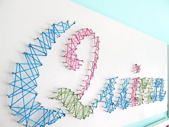 String art baby name art personalized string art for Baby name decoration