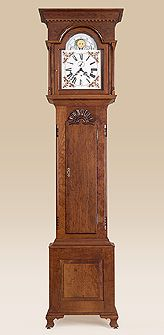 Grandfather Clock with an Early American Style Design. Made out of Cherry Wood.Living Room, Antique
