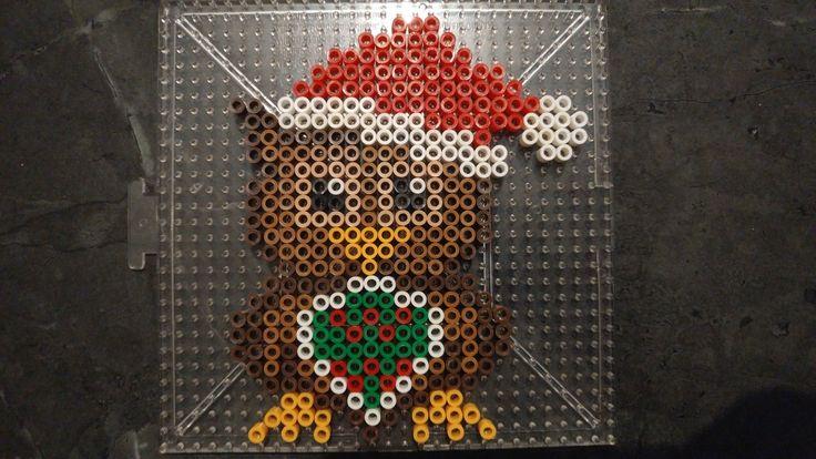 Christmas Xmas holiday owl perler bead pattern