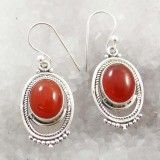 Carnelian Stone 925 Sterling Silver Dangle Earring Set Women Fashion Jewelry