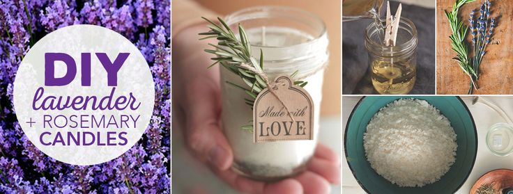 DIY Lavender and Rosemary Candle