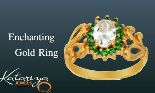 Sparkling Gold Ring in 22K  Buy Now :http://buff.ly/1McDatr COD Option Available With Free Shipping In India
