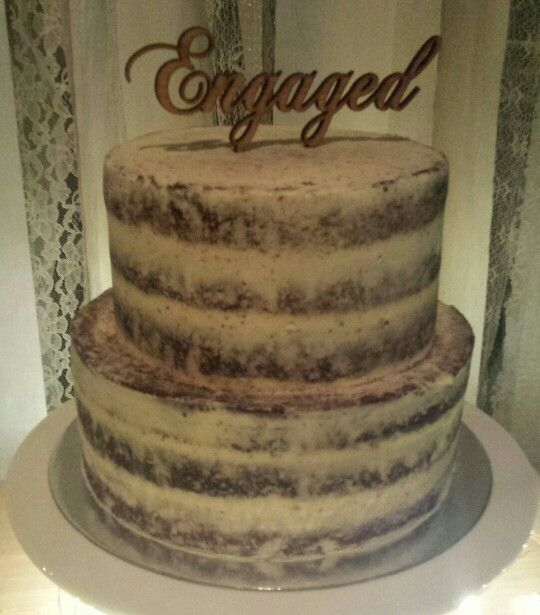 Two - tiered chocolate semi-naked cake (engagement)