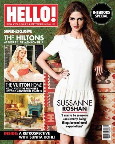 Sussanne Roshan On The Cover Of Hello Magazine India September – 2012