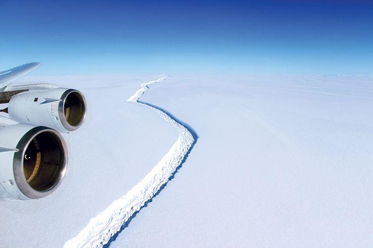 El desprendimiento de un iceberg en la Antártida: por qué es importante  . Foto:John Sonntag/NASA