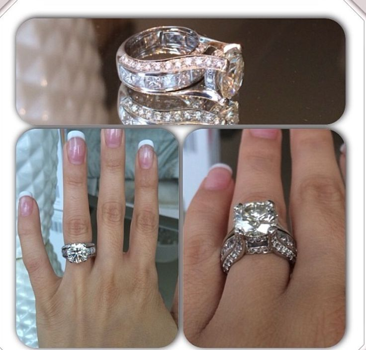 Gorgeous setting for huge round diamond engagement ring