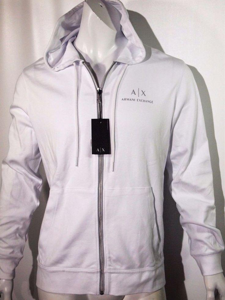 Armani Exchange men's signature hoodie jacket size xl NEW on SALE #AXArmaniExchange #Hoodie