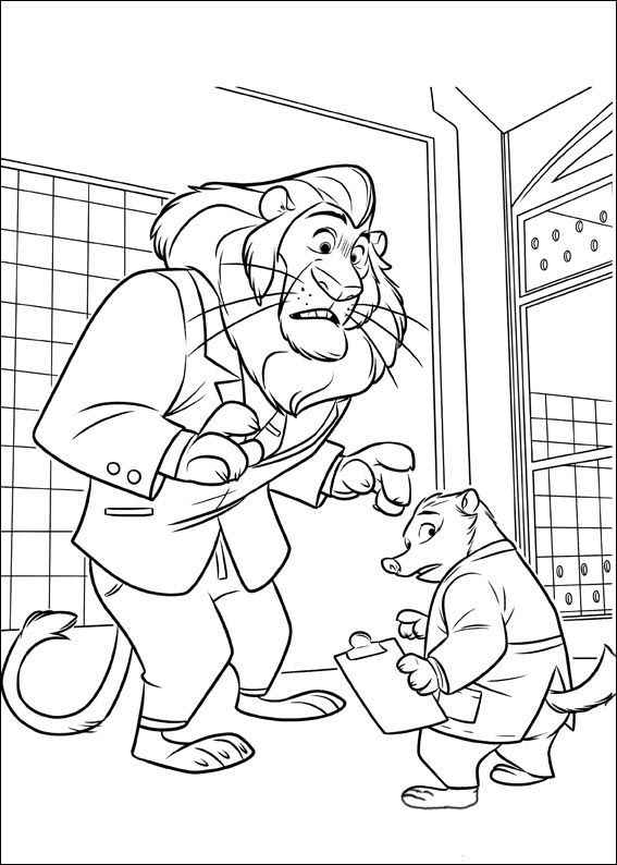 coloring book zootopia 17 best images about coloring pages zootopia on