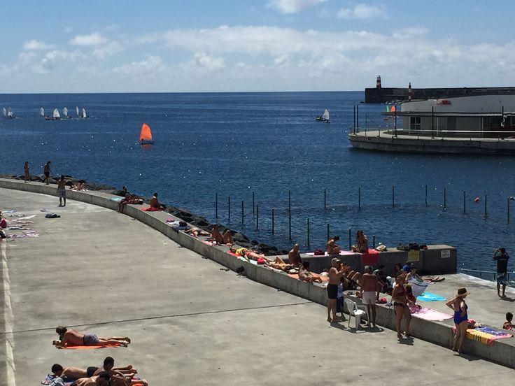 """#VisitPortugal #TravelToAzores #Azores """"Pesqueiro"""" #pool #PontaDelgada #SaoMiguel Island"""