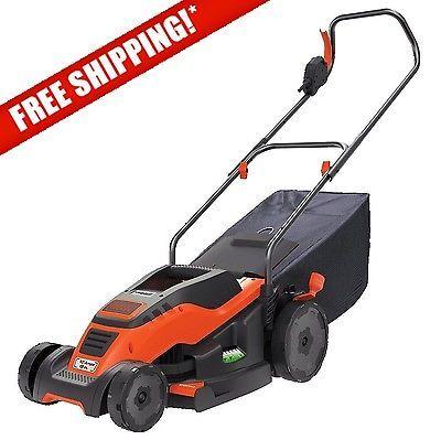 Decker Corded 15 Electric Small Lawn Mower Grass Multch Bag Catcher Edger