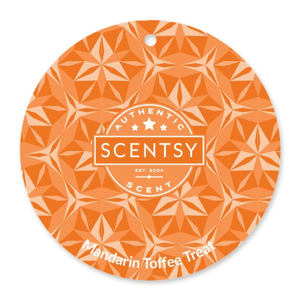 MANDARIN TOFFEE TREAT SCENT CIRCLE Sugared mandarin and sugarcane drizzled with creamy toffee butter.