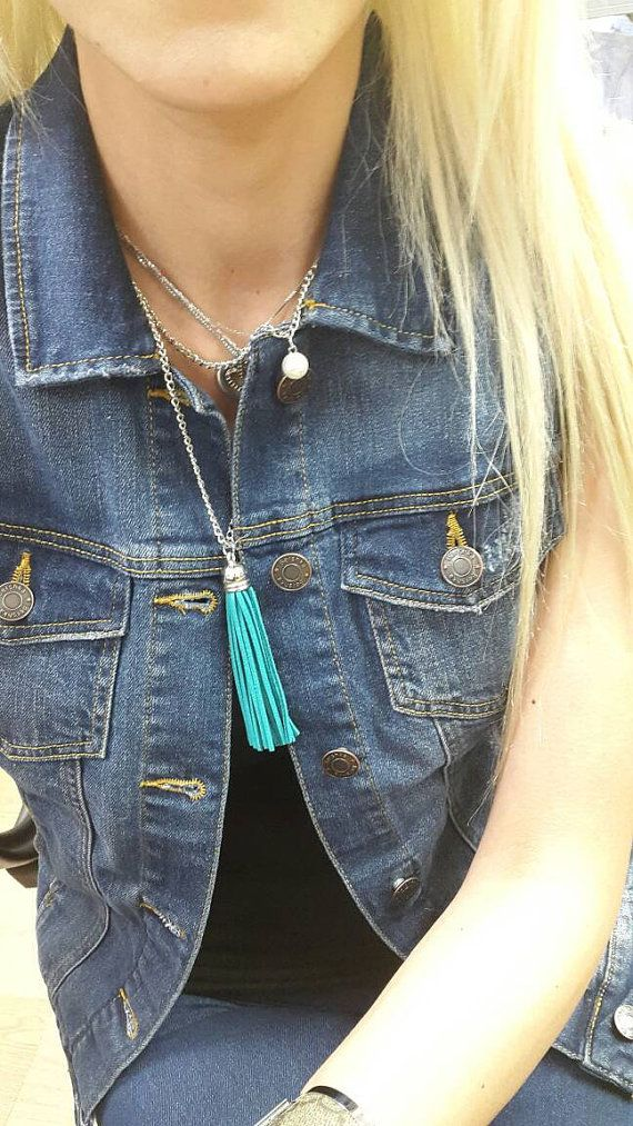 Hey, I found this really awesome Etsy listing at https://www.etsy.com/uk/listing/281274784/turquoise-blue-long-suede-tassel