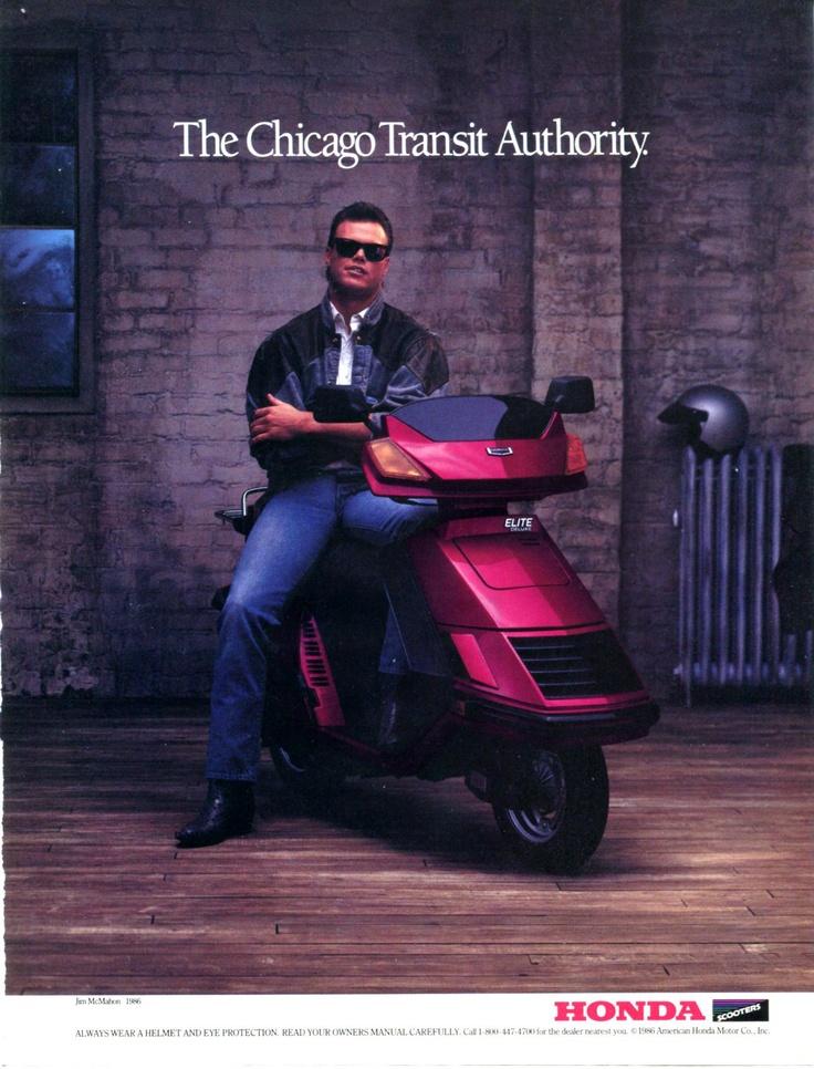 1985 JIM McMAHON HONDA Scooter Chicago Transit CTA Color Vintage Original AD