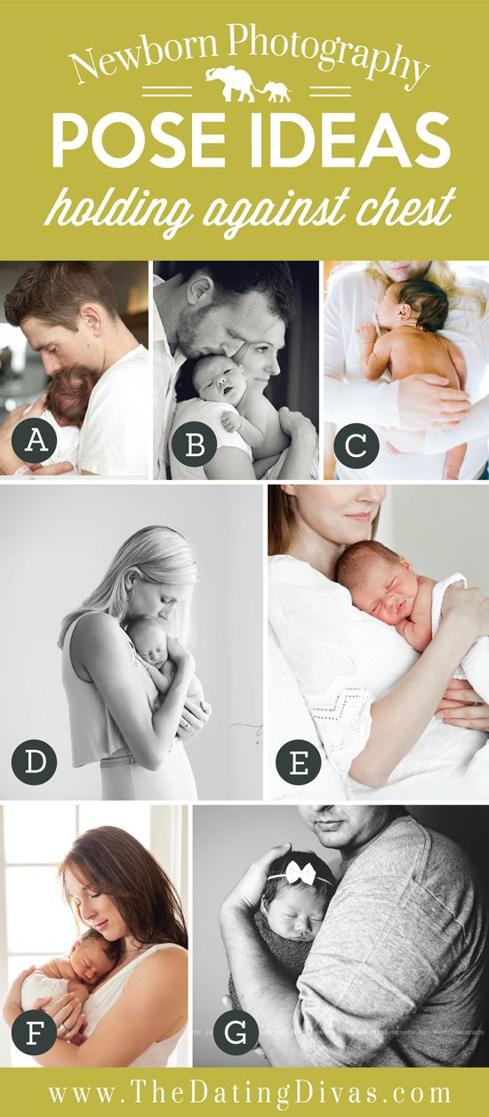 Precious Newborn Photography Pose Ideas with Baby Against Chest