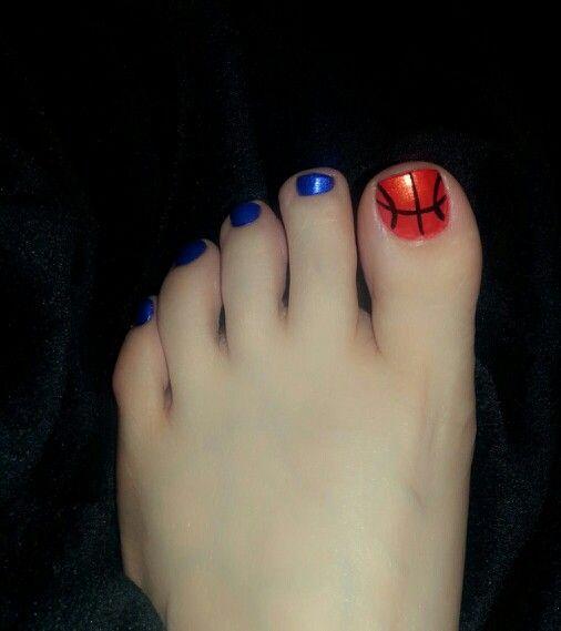 University of Kentucky inspired basketball toes!!!!