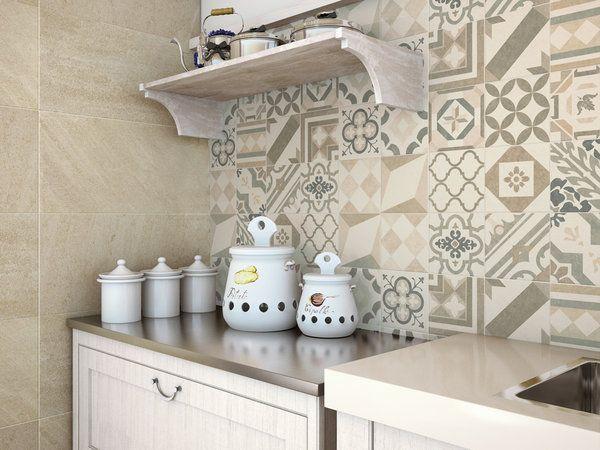 Mosaicos para cocinas mosaico hidrulico cocina with for Azulejos decorados