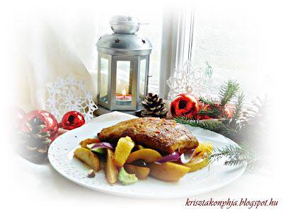 Kriszta konyhája- Sütni,főzni bárki tud!: Fogasfilé csípős birsalmaágyon ( paleo )