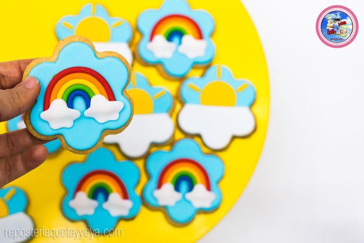 Galletas arcoiris - Rainbow cookies