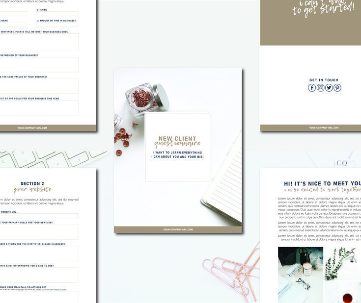 Business Branding New Client Questionnaire Business Branding How To Make Notes Web Design Services