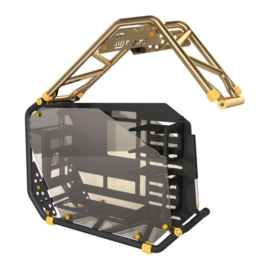 InWin D-Frame 2.0 BK/GO Gold/Black Motorcycle Steel Tube ATX ...