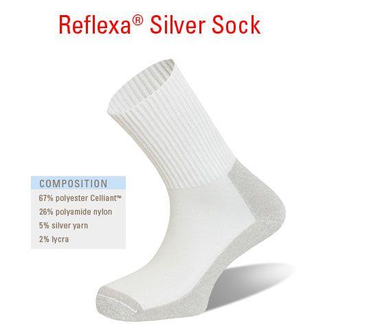 Reflexa Silver Sock