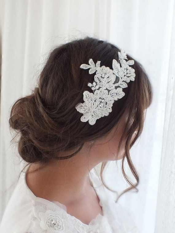french lace wedding  Hair Piece French Lace  by Theworldofbrides, $42.00