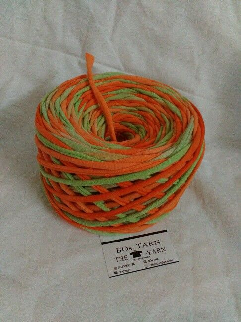 Tie dye cotton orange green