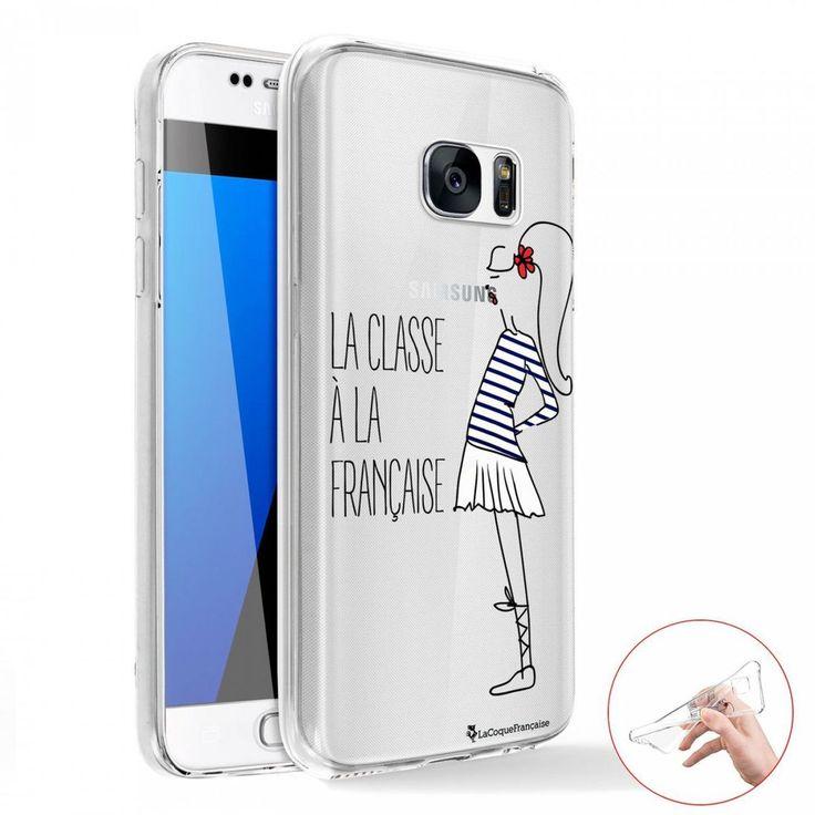 Coque 360 Samsung Galaxy S6 Edge 360 Intégrale Transparente Classe À La Francaise Ecriture Tendance – Taille : Taille Unique