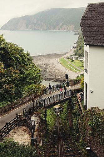 Cliff railway from Lynmouth to Lynton