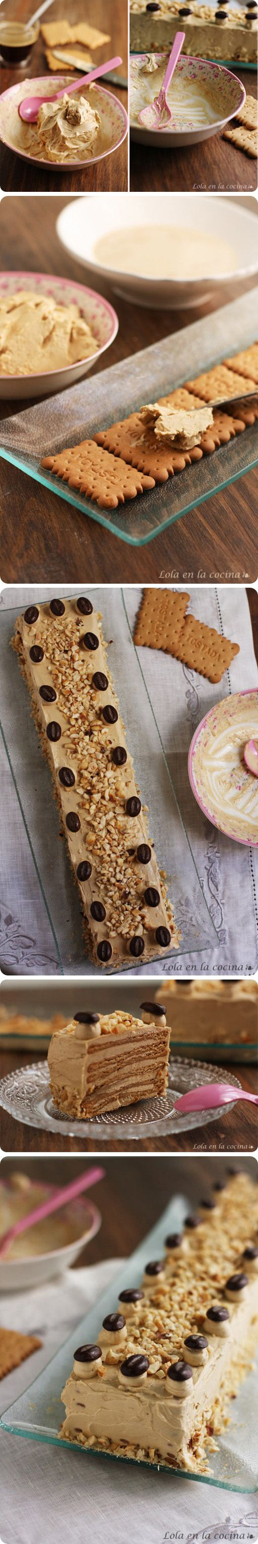 Pastel de galletas y moka / de http://www.lolacocina.com/