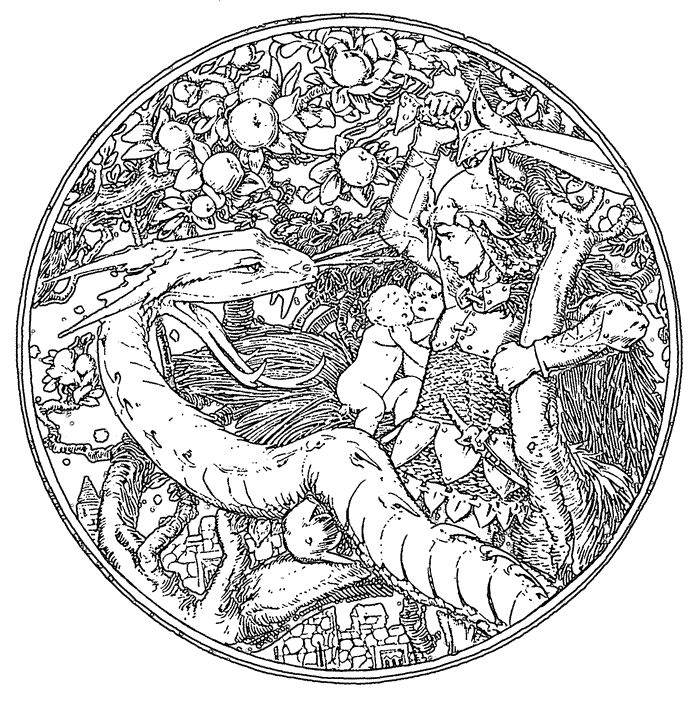 This Celtic Dragon Coloring Pages