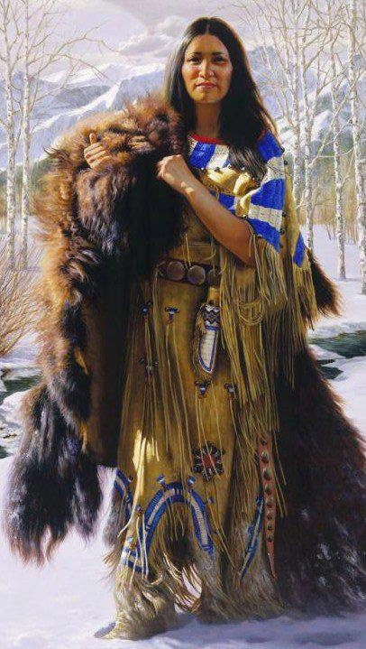 Awesome drawing!!! No one knows how warm a buffalo robe is till you've worn one!!! Native women