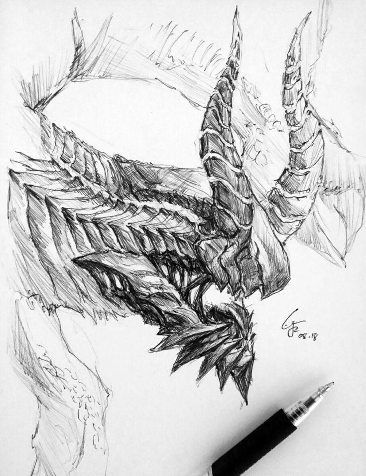 Gore Magala X Kaiju #2018241 #art #design #drawing #sketch