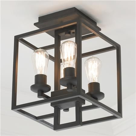 Industrial Cube Ceiling Light