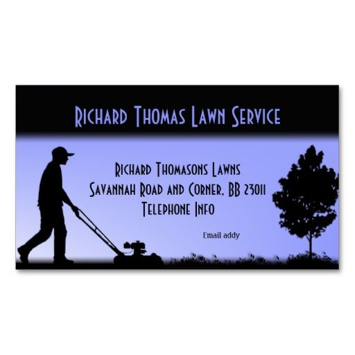 Lawn Mowing Service Business Card Summer Job Idea for
