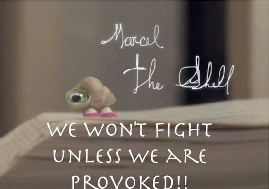 Marcel the shell with shoes on!! <3