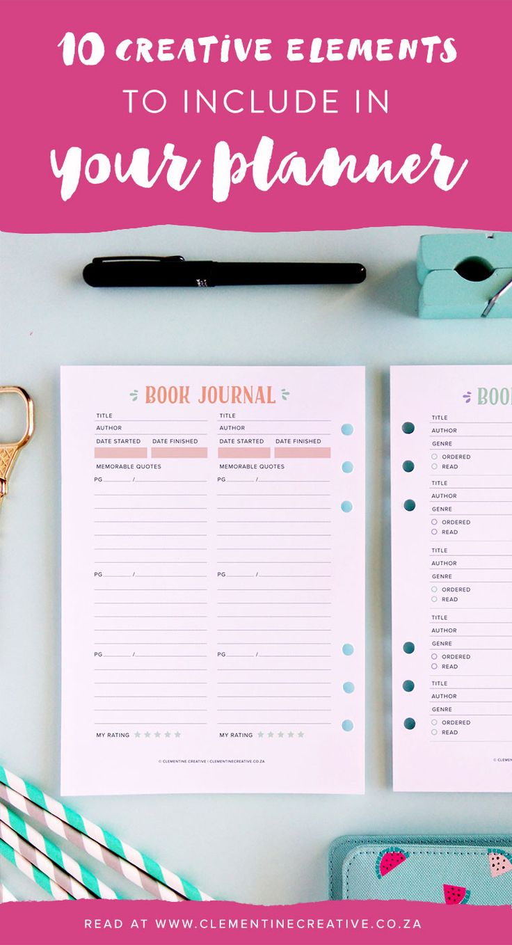 10 Creative Elements To Include In Your Planner