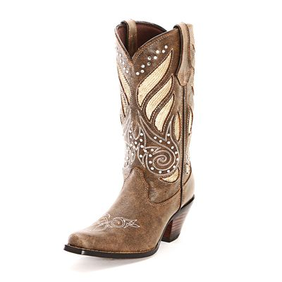 #CowboyCupidBeMine   Durango Brown Sequin Cowgirl Boots
