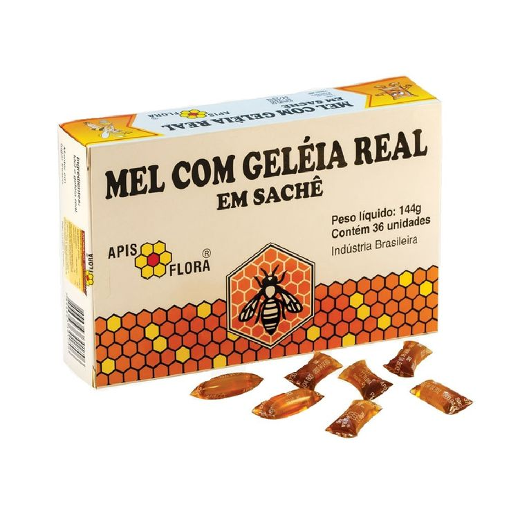 Mel com Geleia Real 36 Sachês 4g Apis Flora :: UniNatural